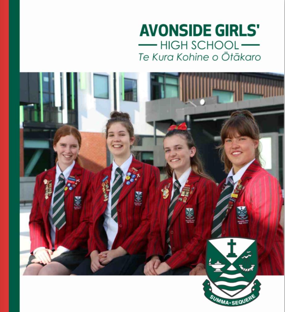 4 Avonside Girls High Girls in red blazers smiling